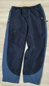 Champion Mens Lined Baggy Warm-Up Track Pants XL Navy Blue
