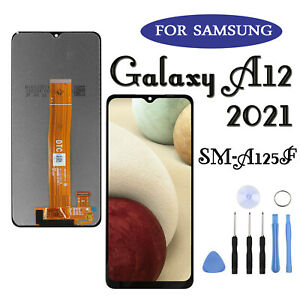 Black For Samsung Galaxy A12 SM-A125F LCD Replacement Touch Screen Digitizer UK