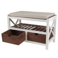 Banc en bois avec 2 tiroirs Meuble à chaussures Armoire Garde-Robe étagère