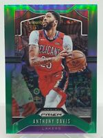 ANTHONY DAVIS 2019-20 PANINI PRIZM #222 GREEN REFRACTOR PARALLEL LAKERS NBA