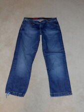 AG ADRIANO GOLDSCHMIED LOW RISE THE SPLIT CROPPED CAPRS STRETCH JEANS SIZE 26