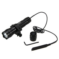 Tactical 5000Lm Green Light LED Flashlight Torch Lamp Rifle Hunting Gun Mount