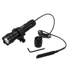 Tactical 5000Lm Green Light LED Flashlight Torch Lamp Hunting Gun Rifle Mount