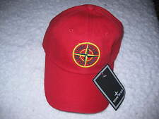 Stone Island red baseball cap