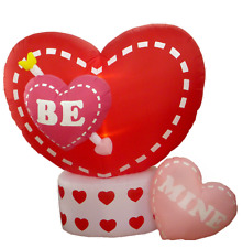 "Valentine Air Blown Animated Inflatable Yard Lawn Decoration Rotating ""BE"" Heart"