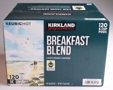 New Kirkland Breakfast Blend Light Roast Coffee Keurig 120 K-Cup Pods Exp 1/19