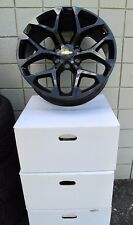 "20"" CHEVROLET SILVERADO SUV FACTORY STYLE GLOSS BLACK NEW SET OF WHEELS 5668"