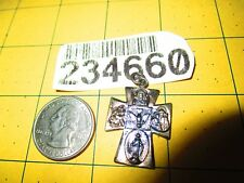 CHAPEL Sterling Silver Scapular FOUR WAY CROSS Medal Pendant i am catholic