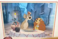 Disney LADY & THE TRAMP Bella Notte Spaghetti Animation Art Limited Edition Cel
