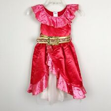 Disney Store Elena of Avalor Dress Costume Size 4 Red Halloween Washable