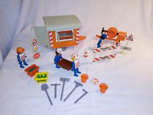 Playmobil  Klicky Set Nr. 3203 Bauwagen Baustelle Betonmischer + Zub. 1976