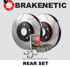 BRAKENETIC PREMIUM SLOTTED Brake Disc Rotors BNP40042.SS REAR SET