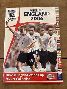 Merlin's England 2006 Sticker Album Complete