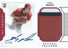 GREG MAHLE 2016 NATIONAL TREASURES AUTO PATCH RC /49