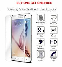 Per nuovo Samsung GALAXY s6 Vero Vetro Temperato Pellicola Protezione Schermo LCD Frontale x2