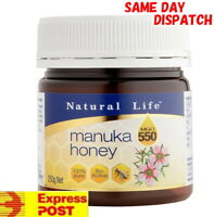 Natural Life 100% Pure Manuka Honey MGO 550+ 250g  / MGO550 UMF15