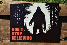 Ne Pas Stop Believing Boite Panneau Métallique - Sasquatch - Découverte Bigfoot