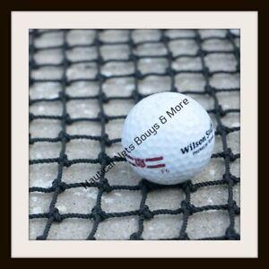 "Golf Impact Black Square Nylon Barrier Backstop 3/4"" Nylon #18 Net 10' X 1 1/2'"