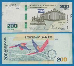 Honduras 200 Lempiras P New 2021 UNC Commemorative note Low Shipping! Combine!
