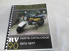 Suzuki RV125  parts manual   1973-1977