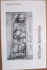 William Kentridge brochure for 2001 exhibitition at New Museum, New York City