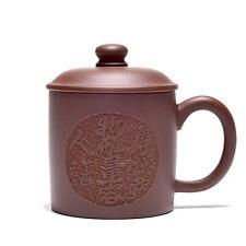chinese handmade Yixing ZiSha purple Clay tea cup Kungfu Cup with lid 180cc