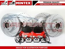 FOR RANGE ROVER EVOQUE 2.2 2.0 FRONT REAR SPORTS DRILLED BRAKE DISCS MINTEX PADS