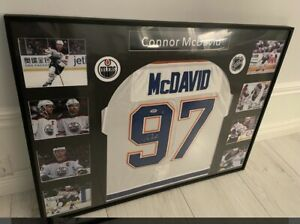 Signed And Framed Connor McDavid Edmonton Oilers Jersey With coa