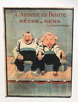 BENJAMIN RABIER. Bêtes et Gens. L'Assiette au Beurre 1902. Bel état