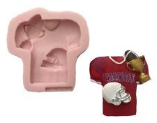 AMERICAN FOOTBALL Sports silicone mold fondant chocolate cake food soap cupcake