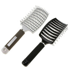 2 Curved Vented Detangling Paddle Hair Brush for All type of Hair Long Curly
