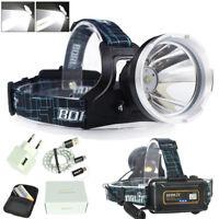 BORUiT Micro USB Headlamp Headlight Flashlight XM-L L2 LED Digital Hunting CHZ