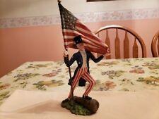 """KD Vintage Designs- Patriotic """"Uncle Sam"""" Figurine- Pre-owned. Retired."""
