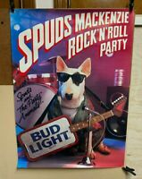 Bud Light Spuds Mackenzie Beer Poster Rock 'n' Roll Party 1987 BUDWEISER PROMO
