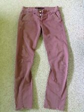 Unisex Hipster Faded Pink Tapered Twisted Harem Cotton Chino Jeans W30 L32