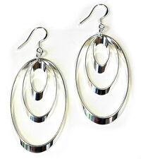 PRESKIN - Wunderschöne Ellipsen Ohrringe Gloss Ohrhänger versilbert klassisch