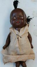 """Vintage 1930's Black Composition Doll 9 1/2"""""""