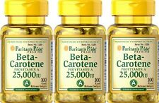 3  Beta Carotene 25000 iu 100 softgels