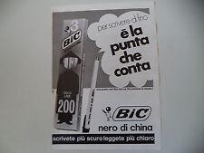 advertising Pubblicità 1974 INCHIOSTRO BIC PENNA NERO DI CHINA