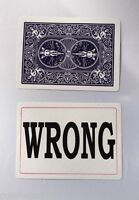 2 WRONG AGAIN BICYCLE PLAYING CARDS Magic Trick Close Up Packet Set Funny Gag