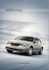 Chrysler Sebring berline 2007-08 UK Market sales brochure 2.0 2.4 CRD LIMITED