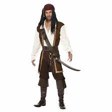 Mens High Seas Pirate Costume Caribbean Buccaneer Captain Fancy Dress