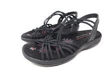 Ladies Skechers Sandals Black Strap Style Size 3