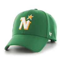 Minnesota North Stars NHL Hockey Green Yellow 47 Brand MVP Adjustable Cap Hat
