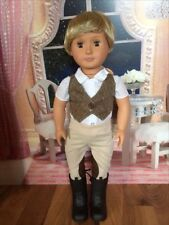 """for American girl/Battat/Our generation Boy/brother 18""""doll brown eyes prince"""