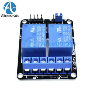 1/2/5/10 5V 2 Channel Relay Module With optocoupler For PIC AVR ARM Arduino