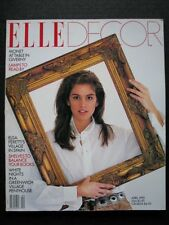 ELLE Decor April 1990 Cindy Crawford by Gilles Bensimon Helena Christensen RARE