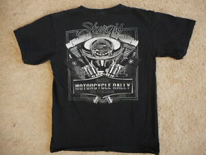 2011 Sturgis SD Motorcycle Black T Shirt Medium Pistols Guns Anvil 100% Cotton