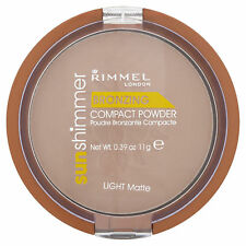 Rimmel Sunshimmer Bronzing Compact Powder, Light Matte Natural Sunkissed-Look