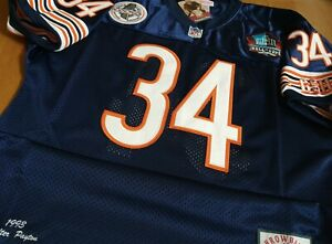 NEW! Chicago Bears #34 Throwback Walter Payton SB Patch sewn Jersey free sh XL